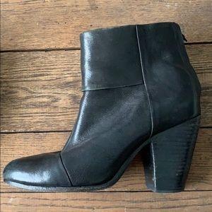 Rag & Bone Black Newbury Boots Size 10